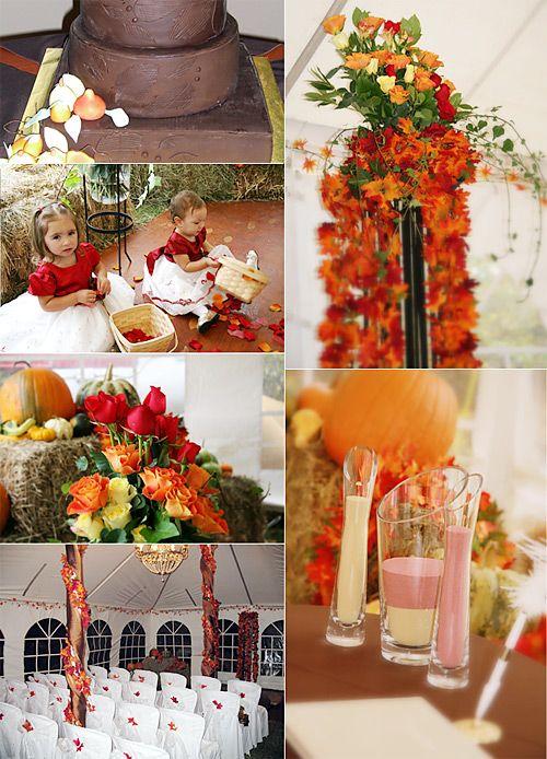 Fall wedding decorations fall wedding orange yellow - Yellow and orange wedding decorations ...