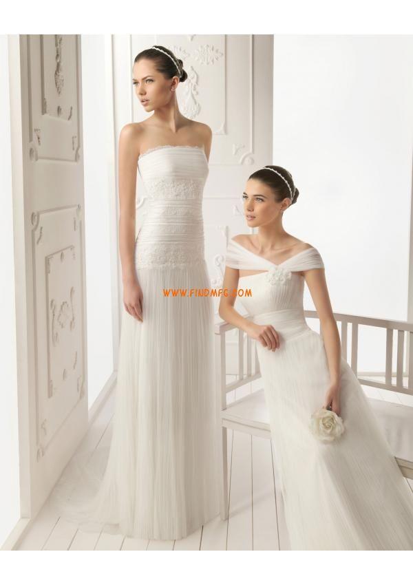 Corpete bordado sem alças glamouroso uma linha de vestido de noiva de tule 2013