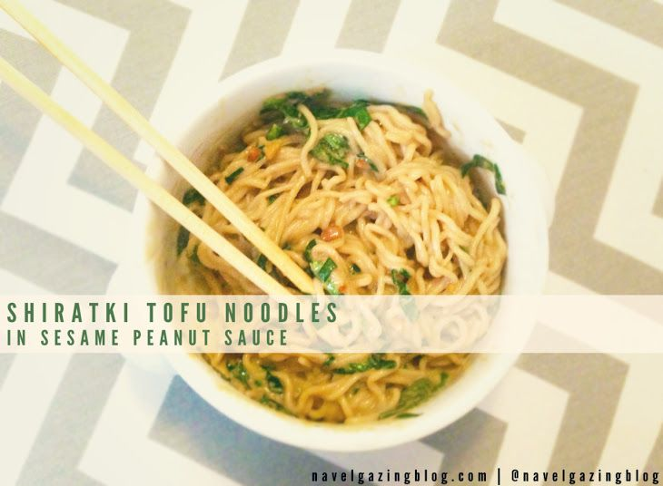 Shirataki Tofu Noodles in Sesame Peanut Sauce Recipe Main ...