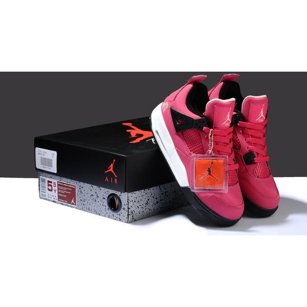 645d2c30b9c079 ... GS Voltage Cherry White-Black . Women s Nike Jordan 4 Retro Shoes Rose  Red Black WJ4-006 via Polyvore .