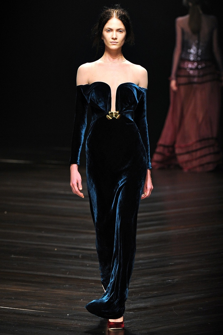 Mario Schwab    What a gown - so sumptuous and perfect for winter.  On my body now please.