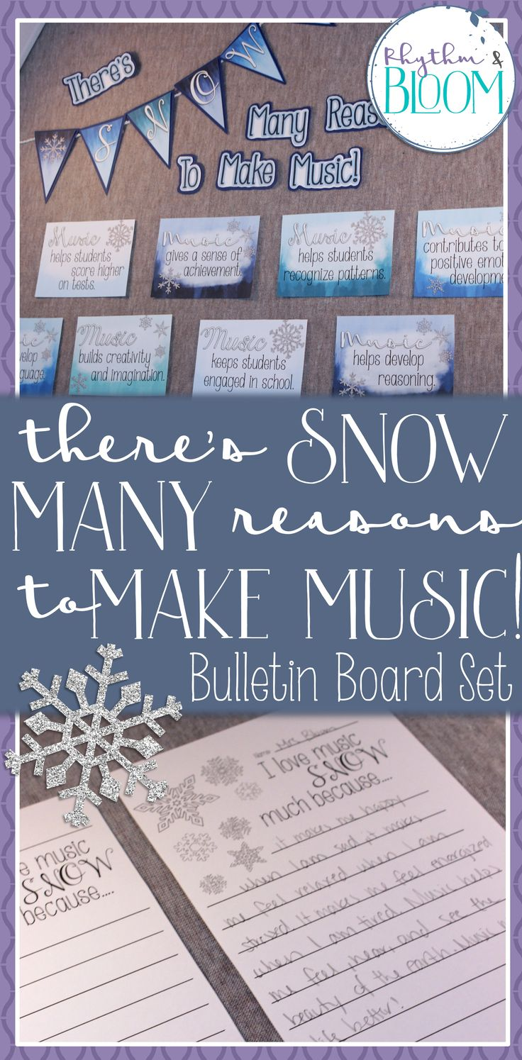 there's SNOW many reasons to make music! A wintery music advocacy bulletin board.