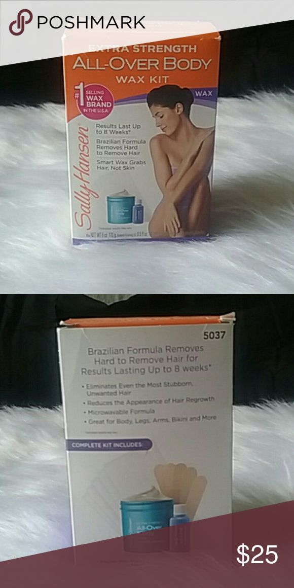 NEW Sally Hansen wax kit Brand new still in box Sally Hansen Extra Strength all over body wax kit. Results last up to 8 weeks Brazilian formula removes hard to remove hair smartwax grabs hair not skin. NEW NEW NEW! ! ! Sally Hansen  Accessories