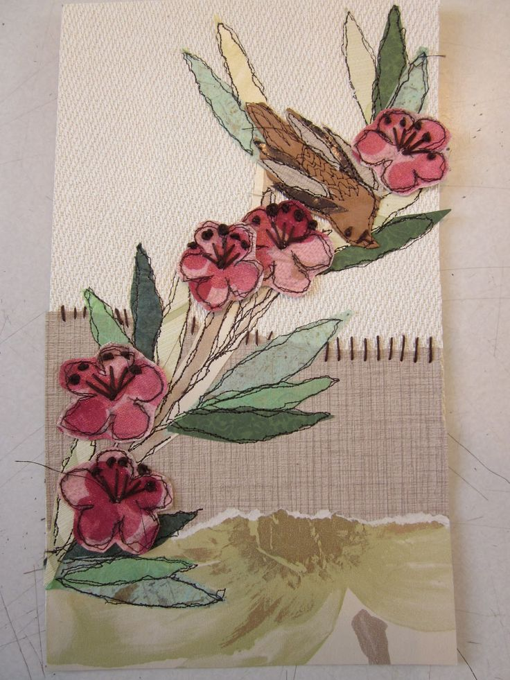 Anne Brooke - Stitched Collage
