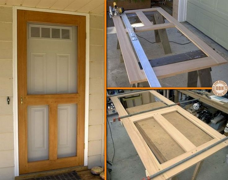 Build a DIY screen door! Learn how by viewing the full album of the project at http://theownerbuildernetwork.co/hult Could this be your next project?