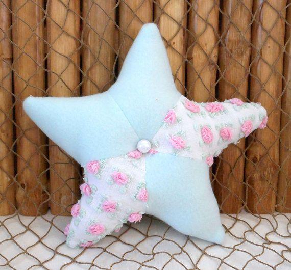 Starfish Pillows Chenille Pillows Nautical Decor Beach Pillows Nautical Baby Shelf Sitters Nursery Star Pillows Coastal Decor Small Starfish Pill Detskie