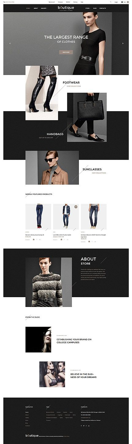 Boutique Clothing Online Store #WooCommerce #template. #themes #business #responsive #WooCommercethemes