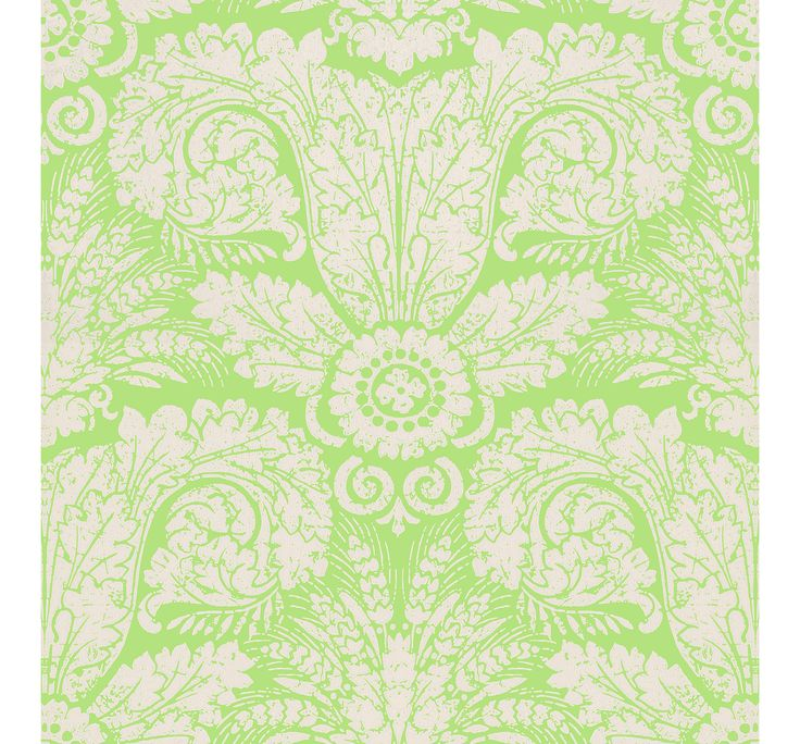 WH 154 04 Wheat Damask Green by Waterhouse Wallhangings