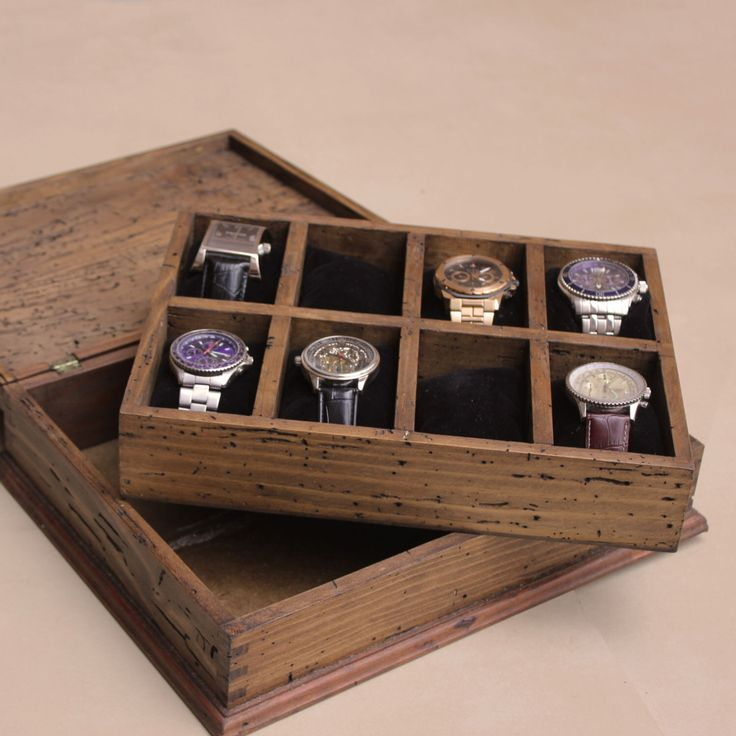 New Personalized Rustic Men's Watch Box for 8 watches by OurWeddingInvites on Etsy https://www.etsy.com/listing/202383642/new-personalized-rustic-mens-watch-box