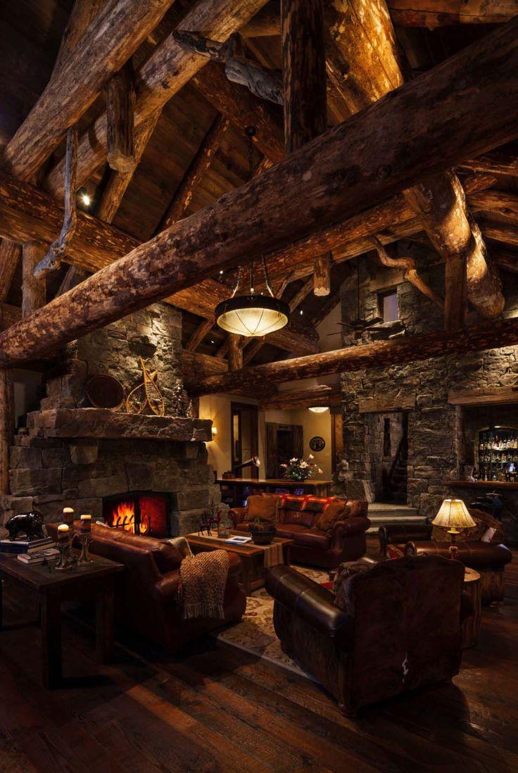 Rustikaler Blockhaus Luxus in diesem Rocky Mountain Urlaub definiert
