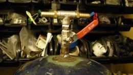 Sandblasting Propane Tank Pressure Pot
