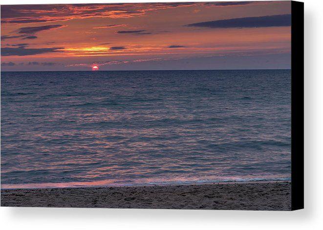 First Encounter Beach Sunset. Eastham, Massachusetts. Cape Cod. Fine art photography on canvas.