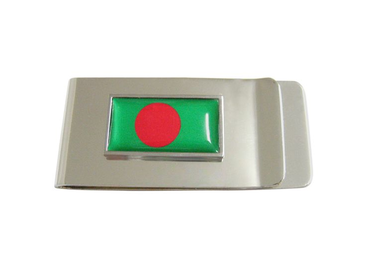 Thin Bordered Bangladesh Flag Money Clip