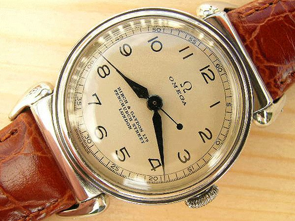 Omega Medicus doctor's watch steel 1938 retailed by Birch & Gaydon