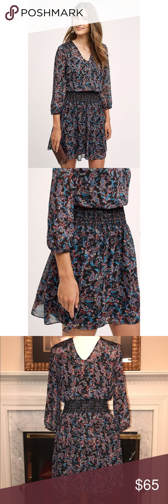 Vanessa Virginia Daytripper Dress Anthro Sz XS Vanessa Virginia Daytripper Dress sold out in stores!! Anthropologie Sz XS. Paisley Floral print. Polyester, rayon lining Smocked waistband Pullover styling Anthropologie Dresses