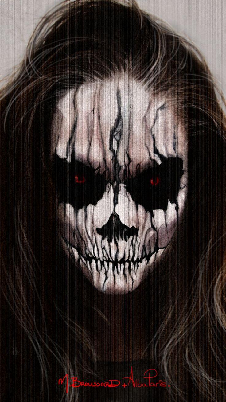 Halloween Face Paint by MichaelBroussard.deviantart.com on @deviantART