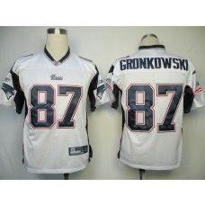 Patriots #87 Rob Gronkowski White Stitched NFL Jersey