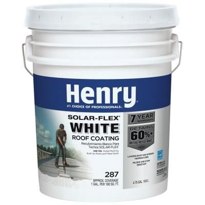 Henry 4.75 Gal. 287 Solar-Flex White Roof Coating - For the bus roof! Reflects the sun.