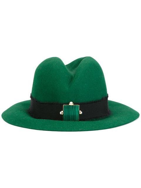 Eshvi шляпа-федора с поделочным камнем