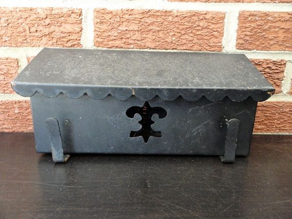 Mid Century Black Wall Mount Mailbox with Newspaper Holder, Black Metal Mailbox, Fleur De Lis, Modern Mailbox, Perfect Project, Classroom