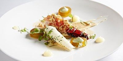 Chef Serge Vieira - Crayfish Tails with Hazelnut Paste