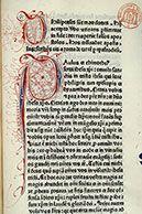 voir les décors)Paris - Bibl. Mazarine - inc. 0007 FOLIO/PAGEf. 459 TITRE ENLUMINURE / SUJETInitiales filigranées