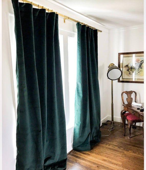 Luxury Velvet Curtains Emerald Green Velvet Green Velvet Image 2