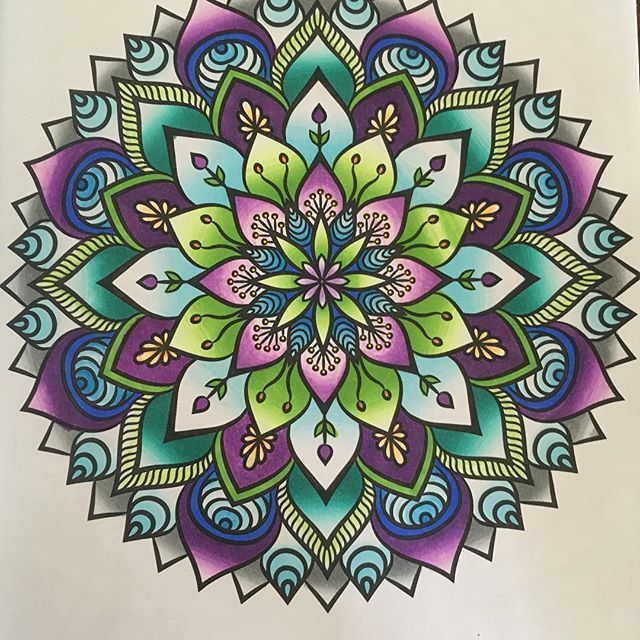 @savannahgordon0203 their beautifully coloured mandala done with the Chameleon Pens.