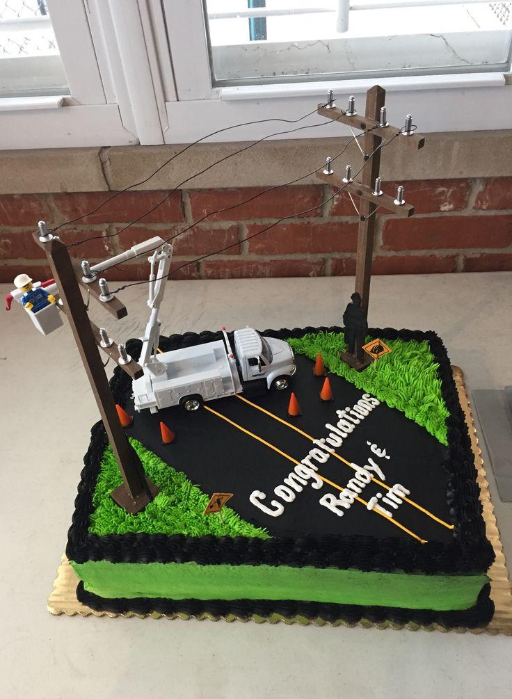 Retirement Lineman Cake Groomsman Cake Lineman Gifts