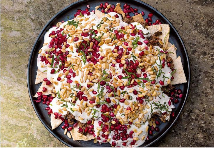 Beef and Aubergine Fatteh - The Happy Foodie