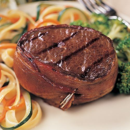 Join the bold, beefy flavor of Omaha Steaks Top Sirloins and the mouthwatering flavor of bacon and you've got a sizzling steak sensation. Our Top Sirloins Omaha Steaks 12 (6 oz.) Bacon-Wrapped Top Sirloins