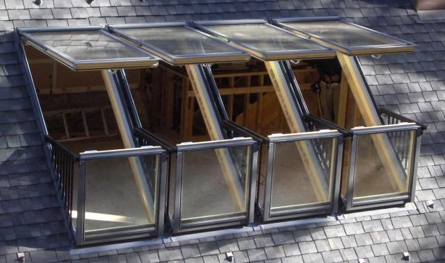 Has anyone beaten a quadruple velux cabrio installation for Balcony window