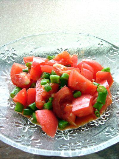 漬物] トマトといんげん豆のアチャール by あつパパさん   レシピ ...