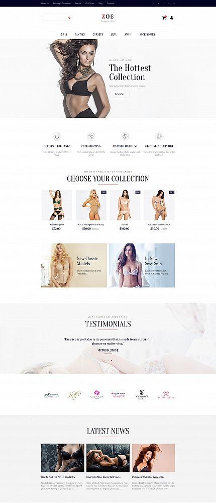 Zoe - #Fashion #responsive  MotoCMS #ecommerce  #template