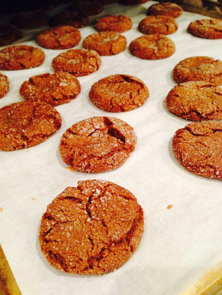 Great-grandma's soft ginger cookies. Mmmmmm