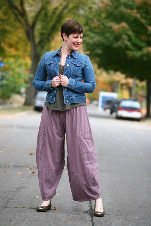 Already Pretty outfit featuring denim jacket, burnout tee, Blue Fish  Clothing wide leg pants - 11 Best NO! Just, No! Images On Pinterest