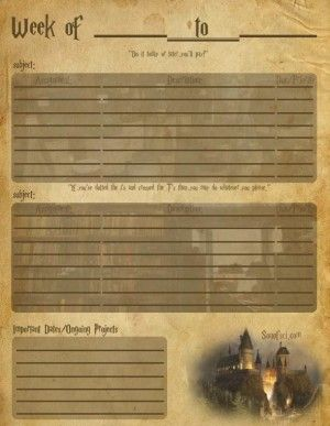 best harry potter classroom images harry potter the harry potter homework planner