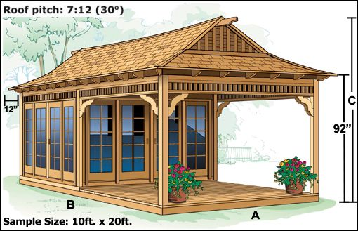 tea house - shed with sitting porch