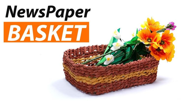 The 25 best ideas about newspaper basket on pinterest for Best out of waste things