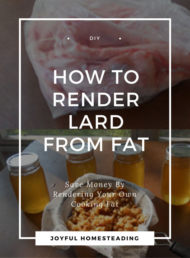 Rendering lard is an easy, low-cost way to have your own healthy cooking oil. Once you realize the health benefits of lard, you'll love making lard for frying and baking.