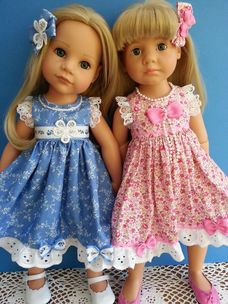 Gotz Girls in my two newest summer dresses