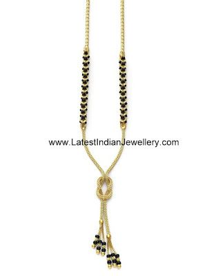 Trendy Gold Black Beads Mangalsutra. Approximate weight given below | Latest Indian Jewellery Designs
