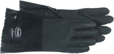 Boss 4217 Jersey Lined PVC Coated Chemical Gloves