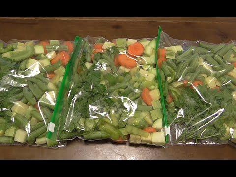 Начинаем морозить овощи для рагу и супа в удобных кулечках.Как легко и просто…
