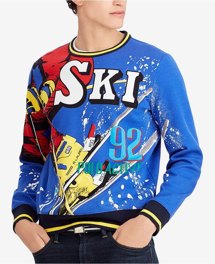 2f6daa5ed Polo Ralph Lauren Men s Downhill Skier Double-Knit Sweatshirt ...