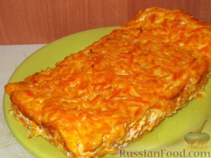 Рецепт: Морковная запеканка «Солнечная» на RussianFood.com