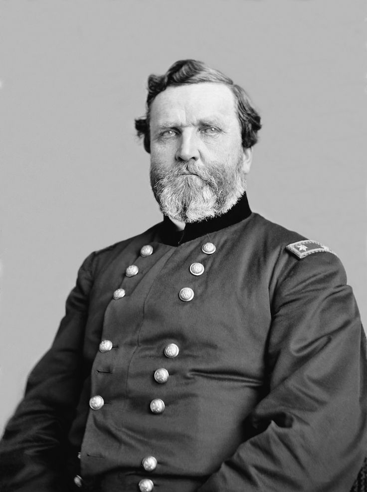 """General George H. Thomas, great Union general: """"The Rock of Chickamauga."""" Crediting Wikipedia."""