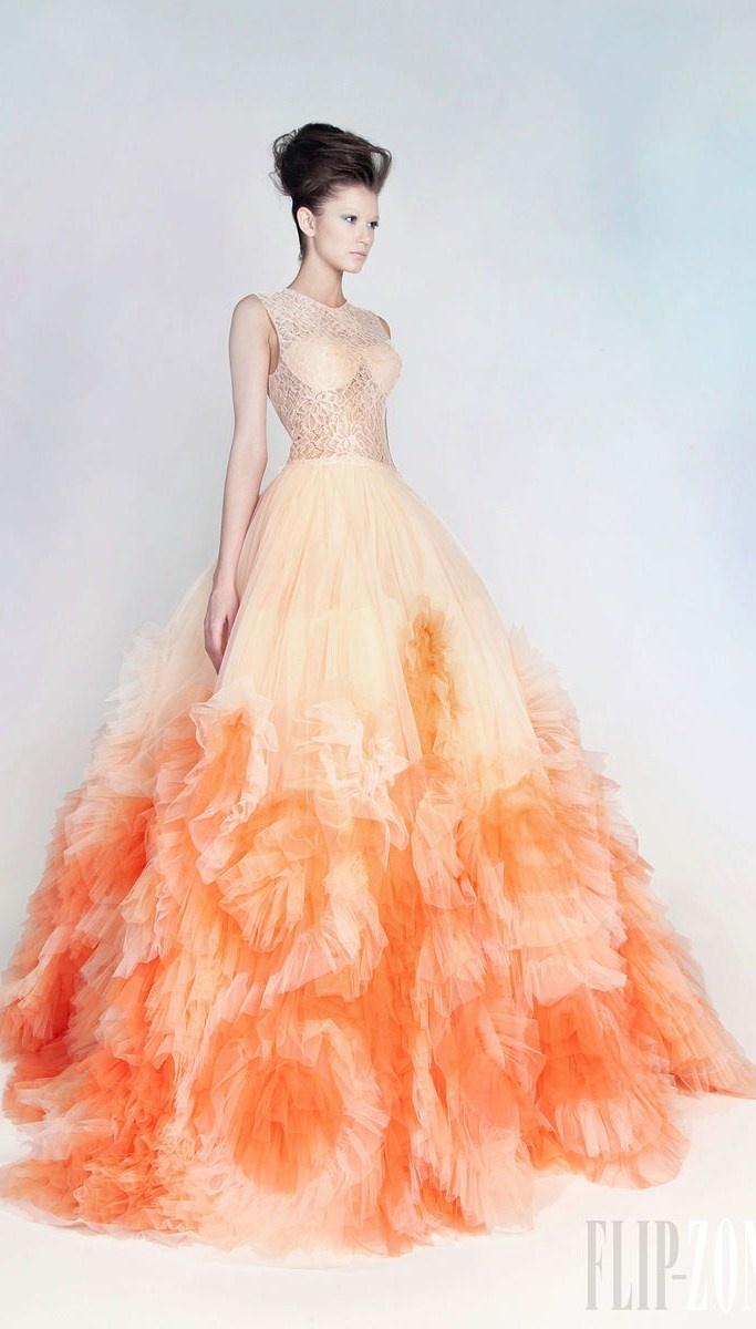 260 best COLOR WEDDING DRESSES images on Pinterest | Bridal gowns ...