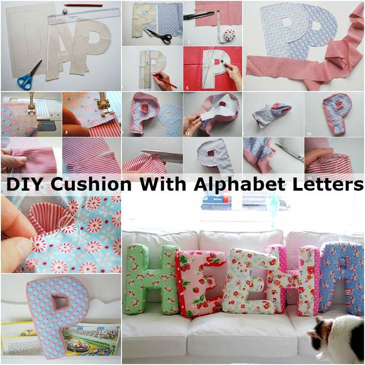 Check out this great DIY project which gives you the full instructions and tutorial on how to make these DIY Cushions With Alphabet Letters.