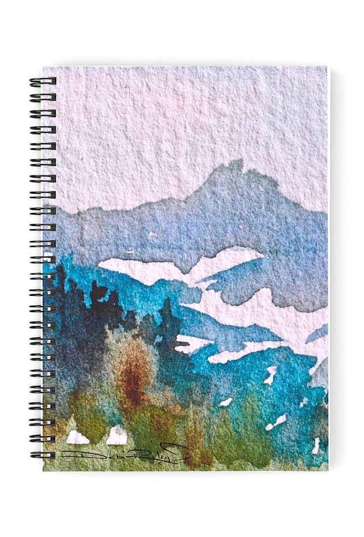 popular watercolor mountain, snow melt, at redbubble